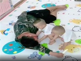 Bố giả vờ ngất để thử lòng con trai, ai ngờ 2 đứa trẻ phản ứng cực phũ phàng khiến anh 'tổn thương sâu sắc'