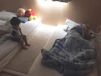 Góc 'gia môn bất hạnh, gia mẫu bất lực': Dặn chồng trông con, lát sau mẹ cạn lời vì thấy con đang ngồi trông bố ngủ