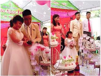 Đồng Nai: Đám cưới của chú rể soái ca 1m76 và cô dâu cao... 90 cm gây xôn xao mạng xã hội