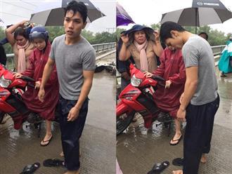 Cảm động chàng 'soái ca' không chút do dự, bất chấp mưa bão lao xuống sông cứu người bị nạn