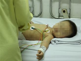 Bực tức vì con quấy khóc không chịu ngủ, cha hất tay vào đầu khiến bé trai xuất huyết não