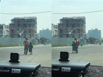 Hành động của ông bố khi dắt con gái ngoài đường khiến dân mạng cảm động