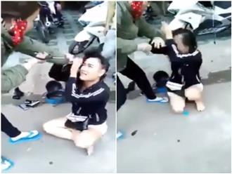 TPHCM: Bồ nhí bị vợ đánh ghen cắt tóc, bắt quỳ giữa đường xin tha