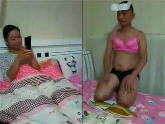 Vợ bắt chồng mặc nội y, dán BVS lên trán, quỳ trên vỏ sầu riêng vì dám nhắn tin tán tỉnh gái lạ