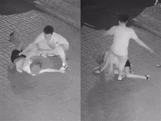 Clip cô gái bị gã đàn ông lạ mặt hành hung, đá vào mặt và đầu như kẻ thù gây bão mạng