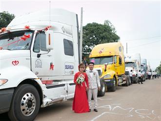 Đám cưới độc lạ: Chú rể Đồng Nai mang 6 container đi rước dâu gây bão mạng