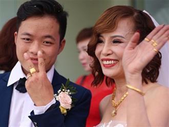 Cô dâu 62 tuổi và chú rể 26 tuổi khoe trọn clip đám cưới khiến nhiều người ghen tị