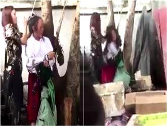 Sự thật về clip thai phụ bị cột tóc lên cây, đánh đập dã man vì trộm cắp