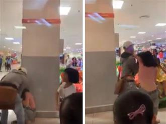 Cô gái bị bạn trai đạp liên tục vào mặt giữa trung tâm thương mại ở Phan Thiết