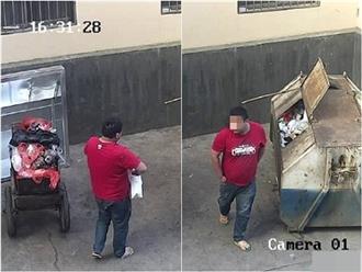 Clip: Bố nhẫn tâm mang con mới sinh quăng thùng rác gây phẫn nộ