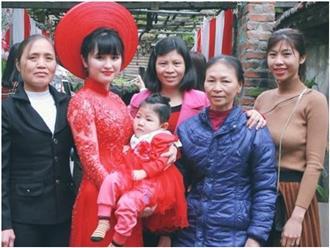 Em bé Lào Cai suy dinh dưỡng ngày nào nay đã 3 tuổi, xuất hiện xinh xắn như công chúa trong lễ vu quy của mẹ nuôi