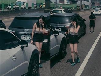 Xuất hiện vài phút trên đường, nữ tài xế mặc hở bỗng nổi như cồn, dễ dàng kiếm hơn 300 triệu/tháng