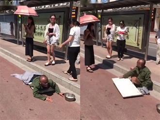 Gã ăn xin đang lết bỗng được 'chữa què' nhanh như chớp chỉ bằng hành động vô tình của cô gái