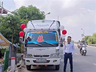 Chú rể Thái Bình mang 'siêu xe' chở lợn đi đón dâu khiến họ nhà gái cười ra nước mắt