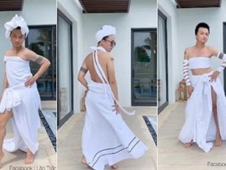 'Thánh' hóa trang khiến dân mạng ngả mũ với show diễn thời trang lấy cảm hứng từ khăn tắm