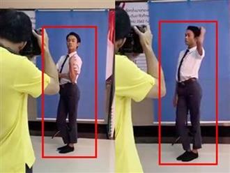 Khi trường kêu đi chụp ảnh thẻ, nam sinh có màn tạo dáng bá đạo khiến dân mạng cười bò cảnh cáo: Coi chừng lúc nhận ảnh lại hết hồn