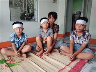 Mẹ rơi xuống biển tử nạn ngày giáp Tết, 3 con thơ đeo khăn tang thẫn thờ: 'Mở hộp gỗ cho mẹ con dậy đi'