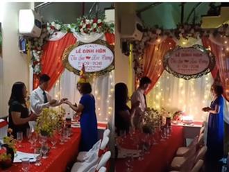 Lễ đính hôn lãng mạn như mơ của chú rể 26 tuổi và cô dâu 61 tuổi