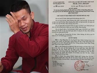 Lộ mức thưởng của người hùng giải cứu cháu bé rơi từ tầng 13 chung cư ở Hà Nội