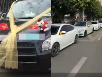 Quá vui vì ly hôn thành công, chồng thuê hàng chục xe sang diễu hành ăn mừng trên phố