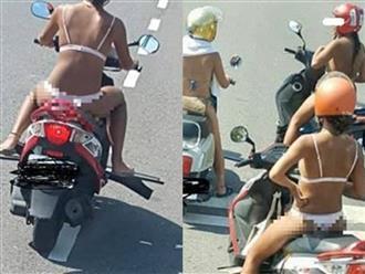 3 cô gái mặc bikini bé xíu ra đường giữa trời nắng nóng 40 độ khiến MXH dậy sóng