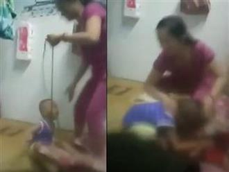 Hé lộ nguyên nhân vụ mẹ buộc dây vào cổ con rồi đánh đập dã man ở Bình Dương