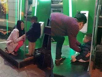 Giận chồng, mẹ trẻ bỏ mặc con trai khóc lạc giọng ở cây ATM giữa đêm rét