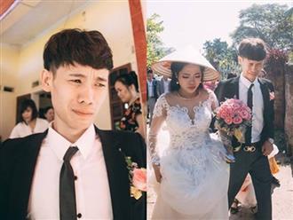 Bức ảnh chú rể khóc đến 'méo mặt' trong ngày cưới khiến dân mạng vừa thương vừa buồn cười