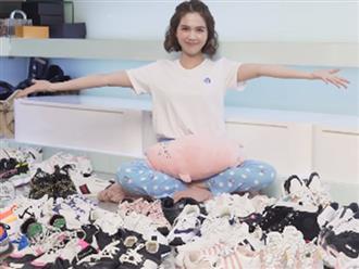 Ngọc Trinh lại khiến dân tình choáng váng với tủ giày sneakers 'siêu to khổng lồ' trị giá tiền tỷ