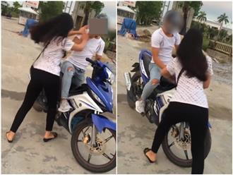 Cô gái uất ức đánh chửi người yêu giữa đường: 'Trả cho tao một năm đợi mày'