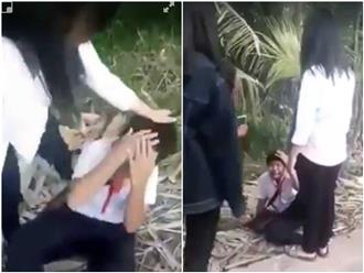 Vĩnh Long: Nam sinh ôm mặt khóc xin tha khi bị nhóm bạn nữ chặn đường đánh đập, dọa giết