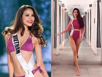 Phạm Hương tái hiện màn catwalk 'đánh võng quá đà' gây tranh cãi hồi thi Miss Universe
