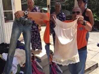 Clip mang áo hai dây lên vùng cao làm từ thiện khiến dân mạng chia phe tranh cãi dữ dội