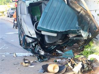 Bị xe tải tông trực diện, một phụ nữ đang mang thai 8 tháng văng ra khỏi cabin, tình hình nguy kịch