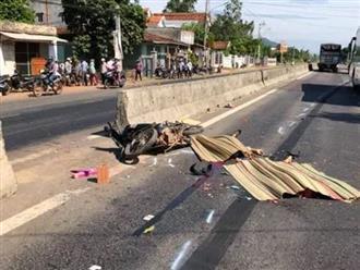 Tai nạn thương tâm ở Bình Định: Ông bà ngoại bị xe tải tông chết, cháu ngoại 7 tuổi nguy kịch