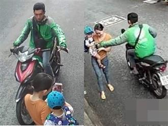 Bắt giữ tài xế Grab giật điện thoại của một phụ nữ bế con nhỏ ở Sài Gòn
