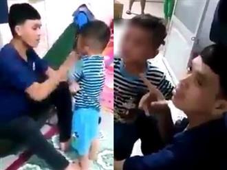 Tát con nhỏ bầm tím mặt, chồng tuyên bố 'Tao giết nó được' khi vợ khóc và can