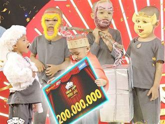 5 chú tiểu giành 200 triệu - điều chưa từng có trong lịch sử 'Thách thức danh hài'