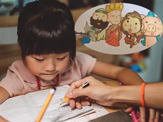 Bé gái một mực khẳng định 4 thầy trò Đường Tăng là 2 người, mẹ nghe giải thích xong thì cười không nhặt được mồm