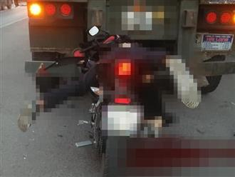 Nam thanh niên chạy xe máy tốc độ cao tông vào đuôi xe container tử vong, dáng nằm của nạn nhân gây ám ảnh nhất
