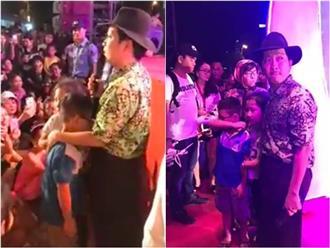 Trường Giang cầu xin khán giả sau khi bị ném chai ở hội chợ Quy Nhơn