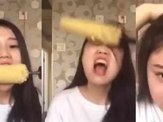Cái kết đắng lòng cho cô gái ăn ngô bằng máy khoan