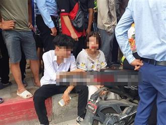 Nam thanh niên đánh đấm dã man 3 mẹ con giữa đường sau va chạm giao thông