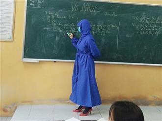 Xôn xao hình ảnh cô giáo bịt kín như 'ninja' giữa đại dịch virus corona