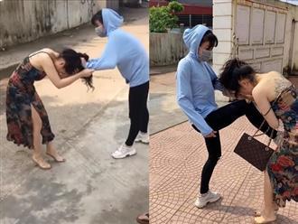 Bồ nhí xăm trổ bị vợ của nhân tình túm tóc, đánh ghen tới tấp gây xôn xao