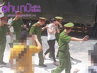 Xuất hiện trước giờ tuyên án, vợ cũ bác sĩ Chiêm Quốc Thái che mặt né ống kính phóng viên