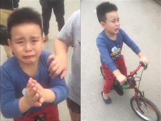 Clip bé trai chắp tay xin lỗi vì lỡ đâm trầy ô tô, chủ xe hành xử cực bất ngờ khiến dân mạng tán thưởng