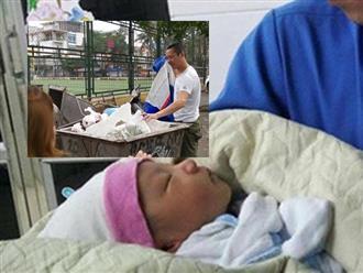 Vụ bé sơ sinh bị vứt trong xe rác ở Hà Nội: Cơn mưa đã cứu sống sinh linh bé nhỏ