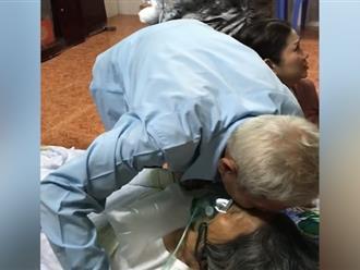 Xót xa phút cụ ông Tây Ninh tiễn biệt bạn đời: Hẹn kiếp sau lại làm vợ chồng