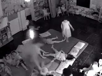 Clip 2 cô giáo nghi bạo hành, quăng quật các cháu mầm non như đồ chơi vì quấy khóc ở Quảng Ninh